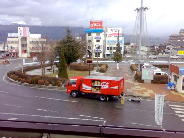 塩尻駅からの眺め