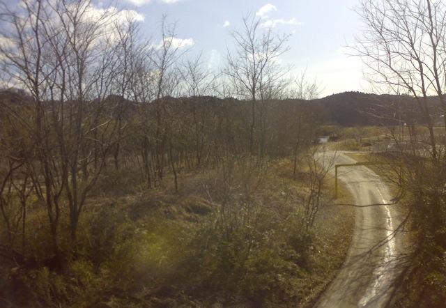 磐越東線の車窓から見える風景