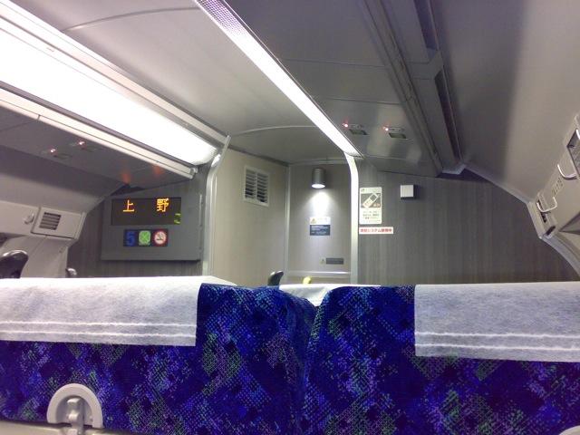 常磐線グリーン車車内