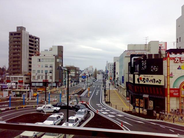 勝田駅前の様子