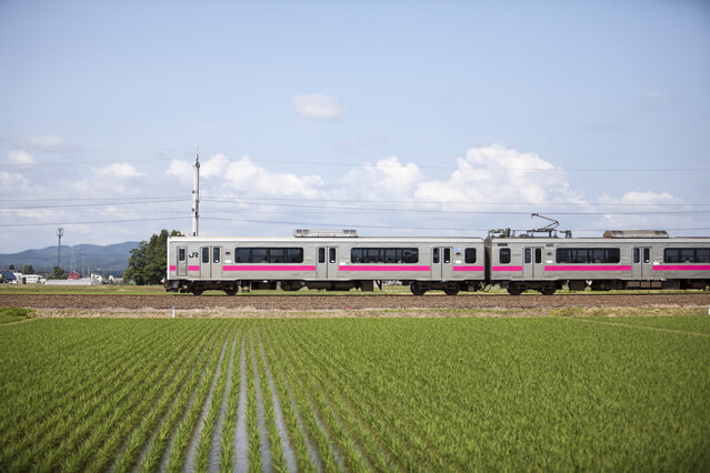 JR奥羽本線の列車