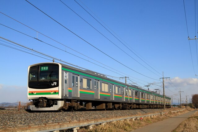 JR東北本線(宇都宮線)の列車